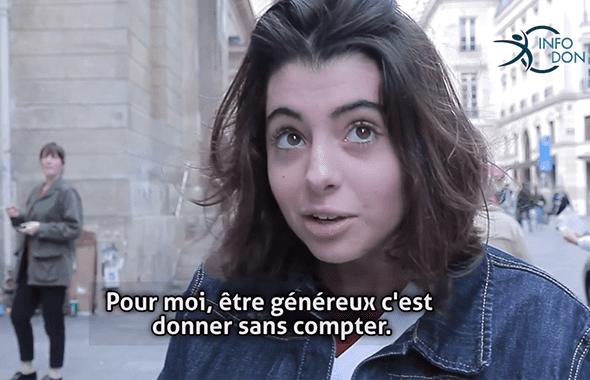 Témoignage d'Eléonore «Donner sans compter»