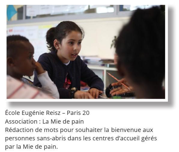 enfants ecole de la philanthropie - apprentissage de la générosité - paris 20