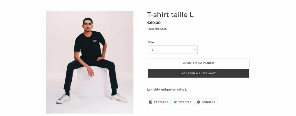 taille tee shirts site e commerce broute now bertrand usclat