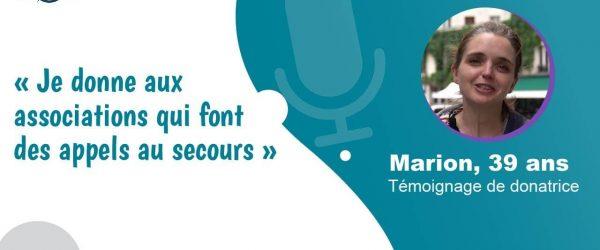 Couverture témoignage Marion Sauveteurs en Mer - Vos Dons Agissent 2021