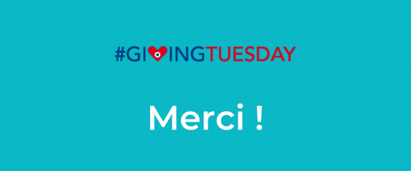 Giving Tuesday 2020 - merci